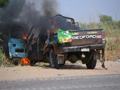 Eight Suicide Bombers Die At Checkpoint Blast