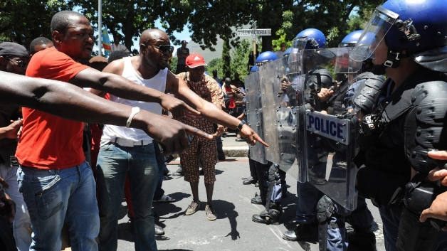 South African Police Clash With Protesters