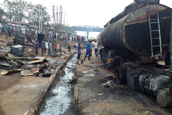 One Dead In Ibadan As Fuel Tanker Bursts Into Flames