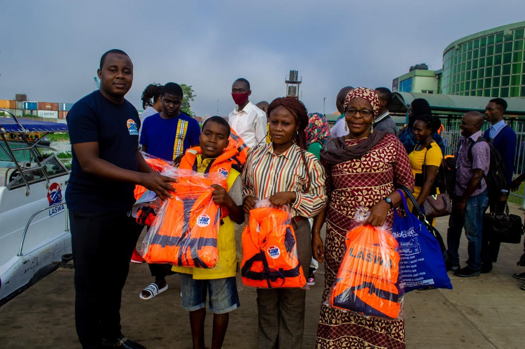 LASWA DISTRIBUTES LIFE JACKETS, SAFETY BOOKLETS TO FERRY PASSENGERS IN IKORODU