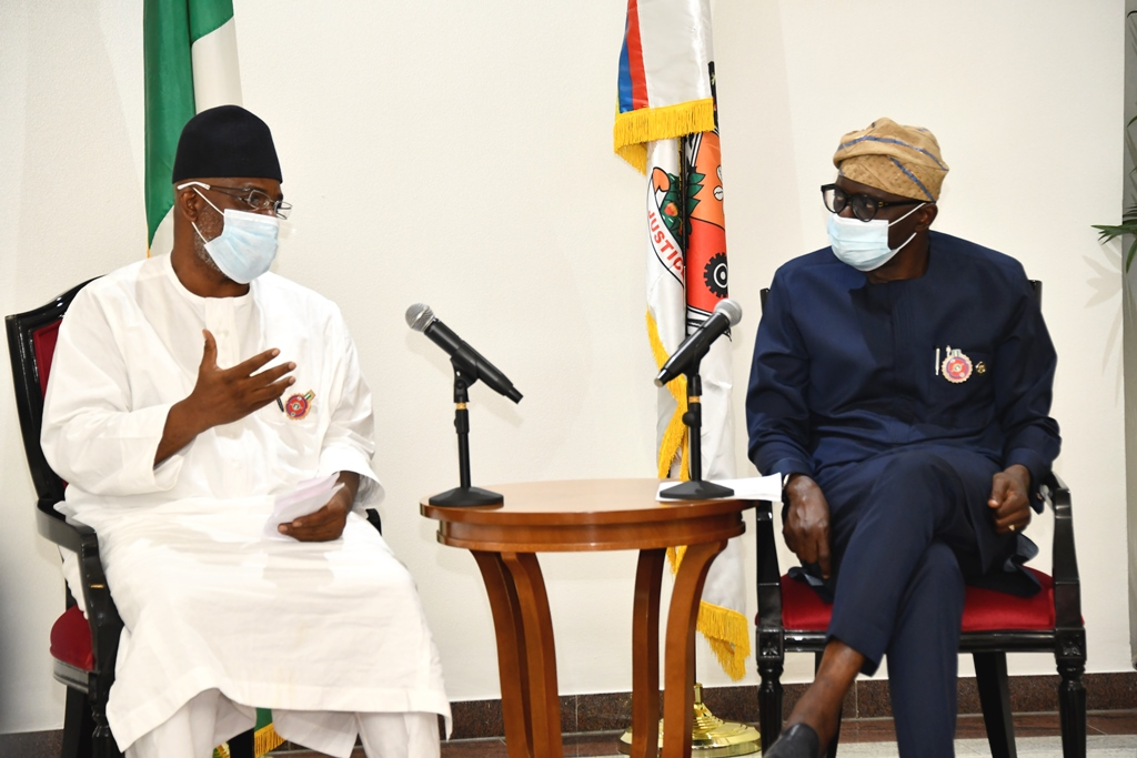 Sanwo-Olu: We'll Prioritise Youth Based Programmes As Governor Receives ICAN, NAHCOM Leadership