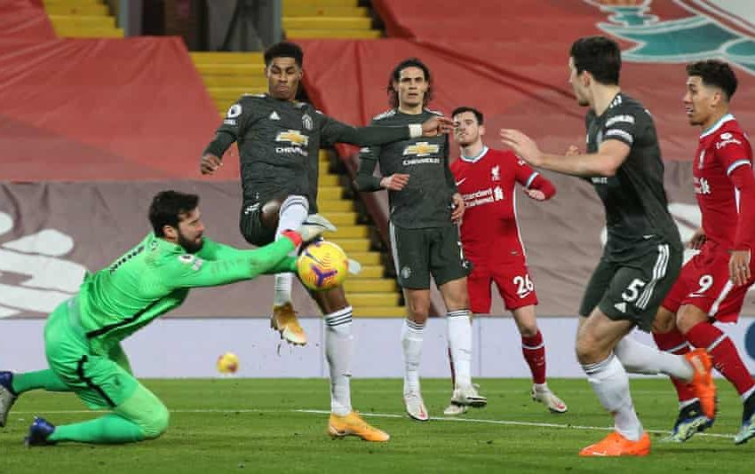 Man United Draw Liverpool to stay Top.