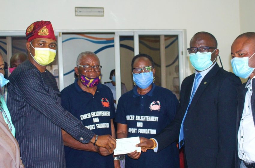LASUTH Receives Cash Donation from Cancer Foundation