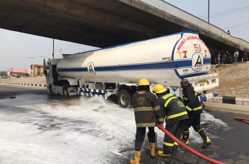 LASEMA, OTHERS PREVENT FIRE OUTBREAK FROM OIL-SPILLAGE AT OGUDU