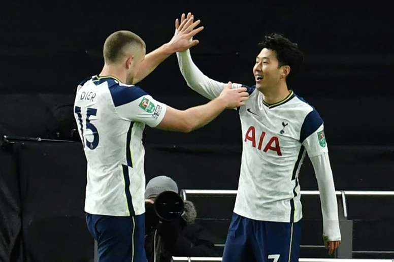Son, Sissoko send Spurs into League Cup final.