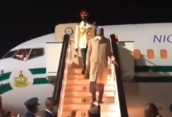 President Buhari arrives London, UK, for his routine medical checkup