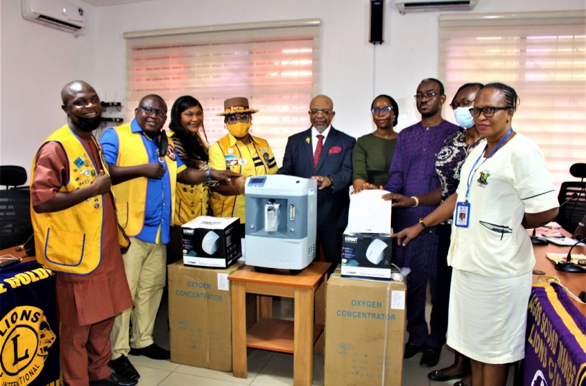 LIONS CLUB DONATES OXYGEN CONCENTRATORS, ELECTRONIC HAND DRYERS TO LASUTH