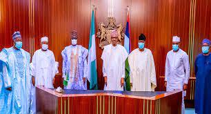 Buhari receives Dimeji Bankole, Gbenga Daniel, APC members