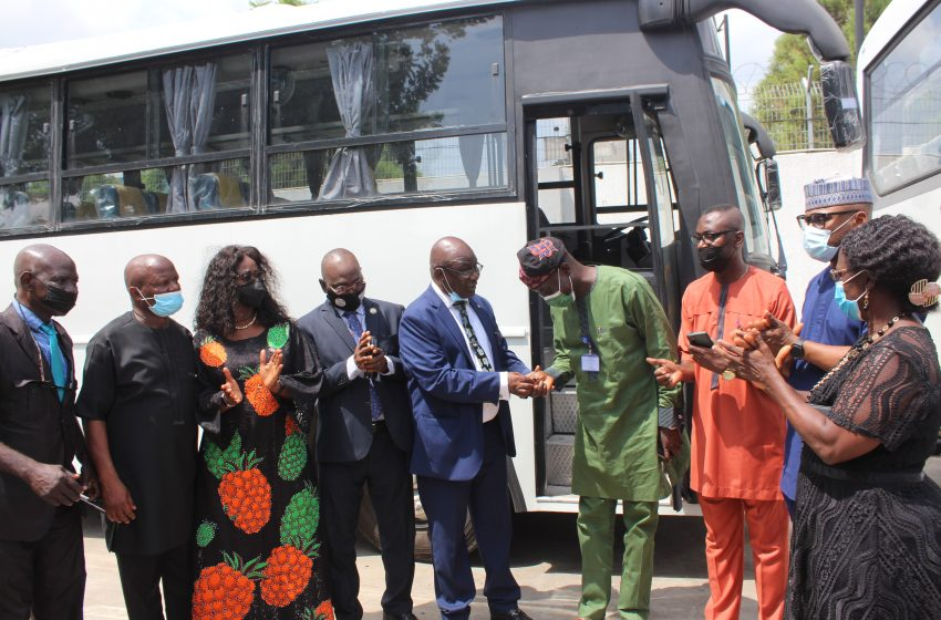 LASG Hands Over 10 Brand New Buses To Public Servants