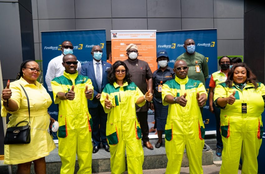 Sanwo-Olu Gives Uniforms To Lawma Sweepers, Branded By First Bank.