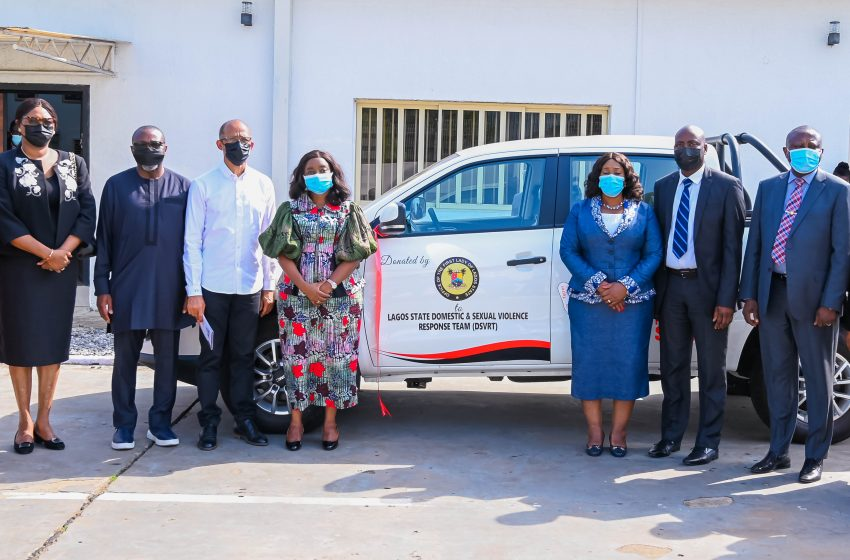 SANWO-OLU'S WIFE PRESENTS VEHICLES TO REV UP FIGHT AGAINST RAPE, DEFILEMENT, OTHERS