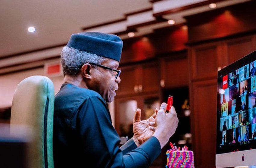 Osinbajo offers Scholarship to Gifted Physically Challenged Artist.