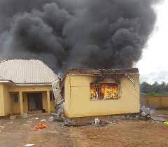 GUNMEN SET FIRE ON NEWLY COMPLETED INEC OFFICE IN IMO