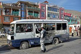 At least 11 killed in Afghanistan bus Bombing.