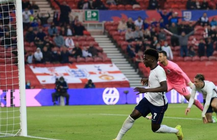 Saka secures England victory with first international goal