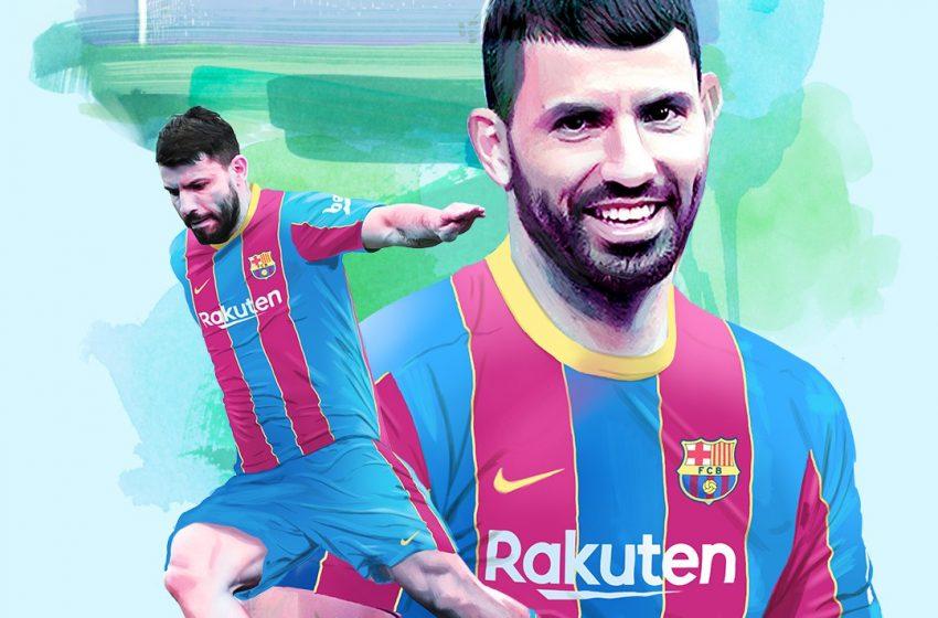 Aguero Joins Barcelona On A Free Transfer