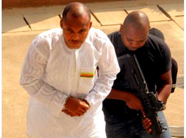 DSS Operatives Produce IPOB Leader, Nnamdi Kanu, in Court