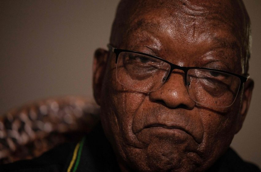 South Africa's Zuma turns himself in to police for prison term