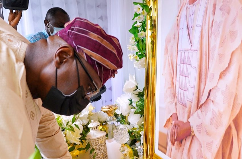 SANWO-OLU PAYS CONDOLENCE VISIT TO GOVERNOR ABIODUN OVER FATHER'S DEATH