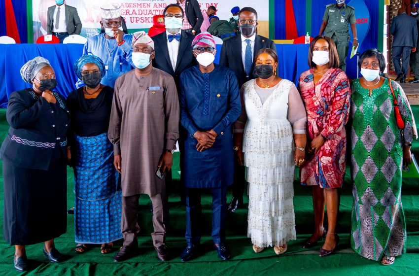 SANWO-OLU EMPOWERS ARTISANS WITH MODERN WORKING TOOLS, AS LAGOS GRADUATES 2,000 IN UP-SKILL PROGRAMME