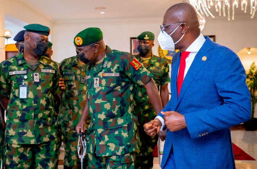 SECURITY OF LAGOS MUST REMAIN THE MILITARY'S PRIORITY – SANWO-OLU