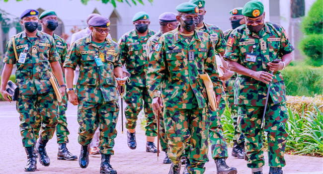 Find Tactics To Solve Security Challenge, Buhari Tells Service Chiefs.