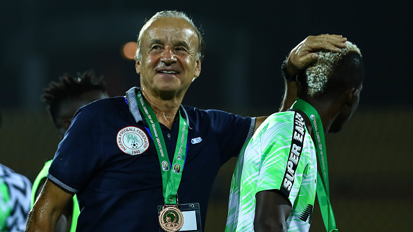 Super Eagles coach is confident TO win  with the crop of players in HIS team.