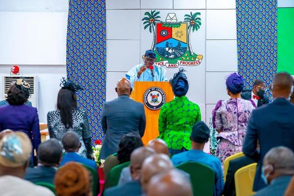 SANWO-OLU SWEARS IN 10 PERMANENT SECRETARIES, URGES THEM ON SERVICE DELIVERY