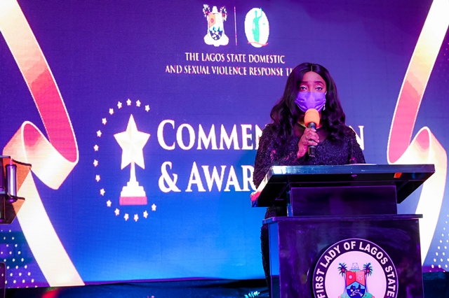 LAGOS FIRST LADY BAGS SPECIAL RECOGNITION AWARD OVER FIGHT AGAINST SGBV